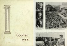 Gopher Yearbook 1964 with homecoming images