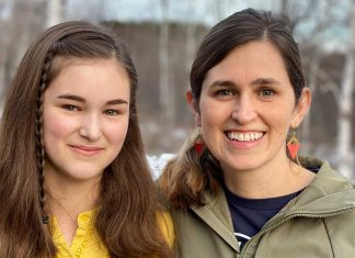 Anwen and Sarah-Winter