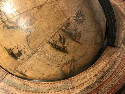 Globe from the James Ford Bell Library