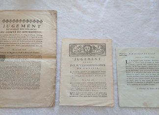 In this image, the title on the left is issued in Folio (a hand-pressed sheet folded once), but the center and right are both issued in Quarto (a hand-pressed sheet folded twice). Of the latter two, the original folded-sheets of hand-press paper were different sizes resulting in one Quarto being much smaller than the other Quarto. Nevertheless, they are both considered Quarto.