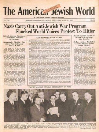 American Jewish World March 31, 1933