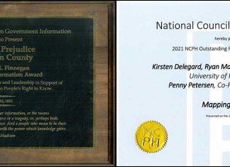Mapping Prejudice awards