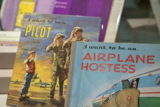 """Carla Greene's children's books: """"I Want to be a Pilot"""" and """"I Want to be an Airline Hostess."""""""