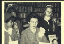 Beverly Cleary signing Mitch and Amy
