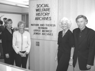 Photo taken during an open house to commemorate the Berman's gift to the University.