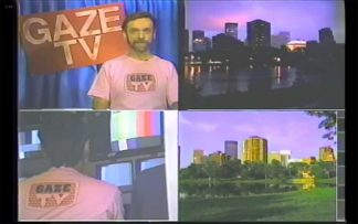 GAZE-TV — four images from the TV show, including host Brad Theissen.