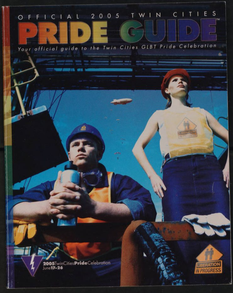 """By 2005, the Pride guide was more than 80 pages long; its theme was """"Liberation in Progress."""""""