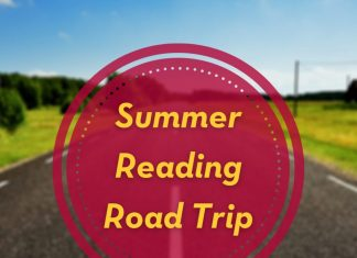 Image of a paved road with text that reads Summer Reading Road Trip. Read Books. Travel Miles. Win Prizes. For details visit z.umn.edu/reads21