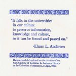 Quote from Elmer L. Andersen