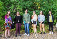 Group attending the Forest Bathing session
